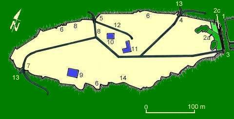 Plan du Camp de La Bure