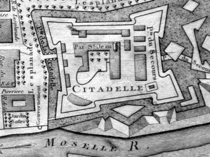 La Citadelle de Metz sur le plan de 1781. Bibliothèque Nationale