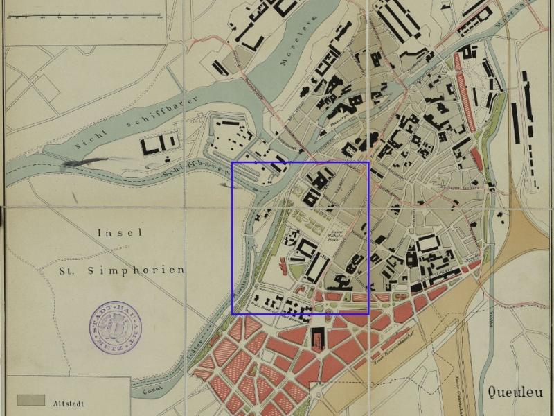 Plan de Metz de 1903. Bibliothèque Nationale