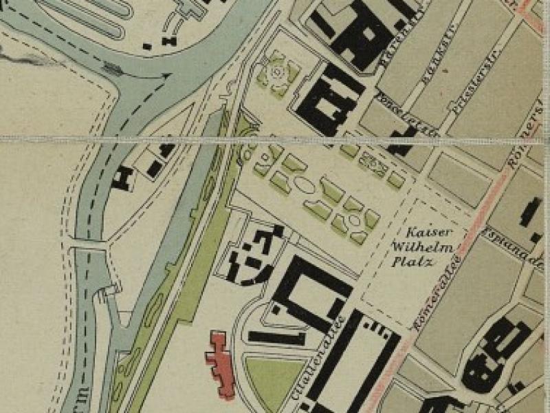 Plan de Metz de 1903. Détail de l'Esplanade, de la Place Royale et du quartier de la Citadelle. Bibliothèque Nationale