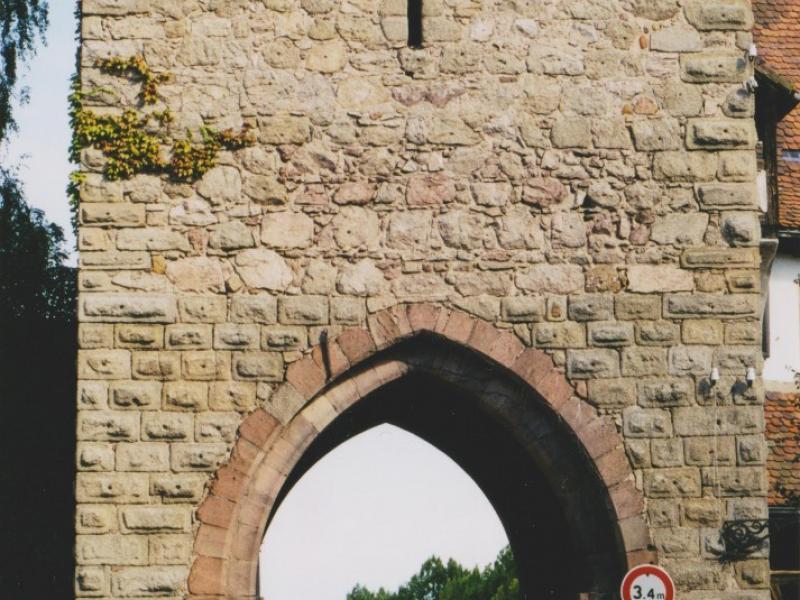 La porte de l'Untertor (côté ville). Photo Marc Heilig