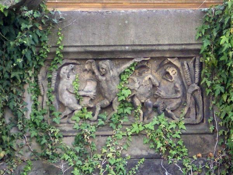 Fontaine du Jardin Boufflers. La Chorale des grenouilles. Photo Marc Heilig