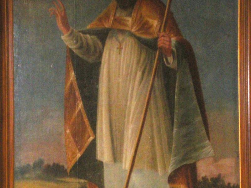 Les Thons. Couvent des Cordeliers. Grand tableau de saint Césaire. Photo Marc Heilig