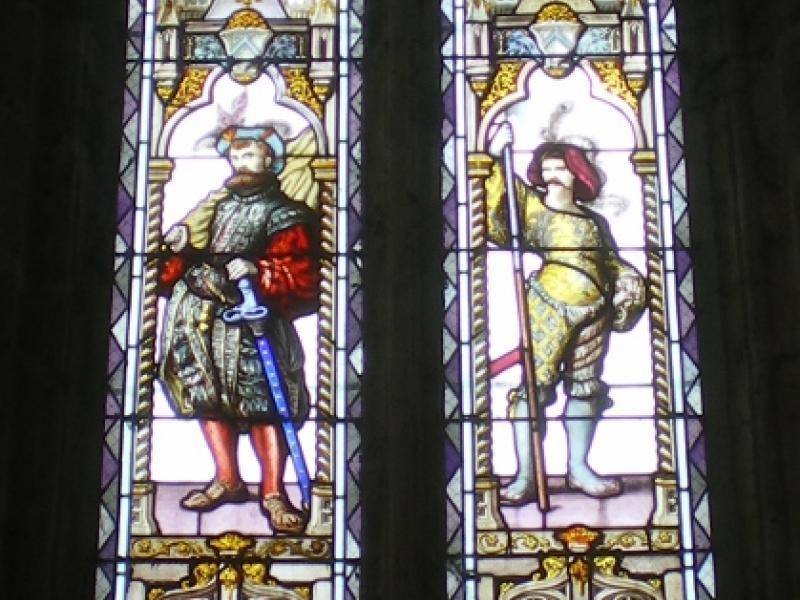Les Thons. Couvent des Cordeliers. Une des fenêtres du choeur de l'église. Photo Marc Heilig